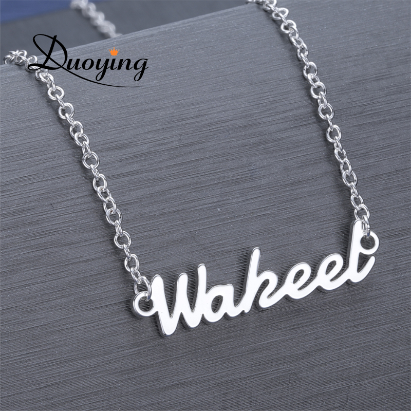 DUOYING Custom Necklace Personalized Choker Necklace For Women Copper Name Necklace Steel Metal Dropshipping Supplier for Etsy