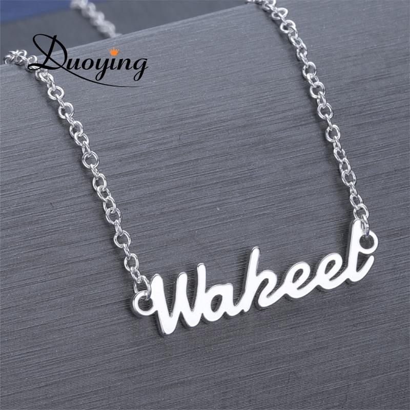 DUOYING personalizado Collar personalizado collar gargantilla para mujeres cobre collar nombre Dropshipping. exclusivo. proveedor de Etsy