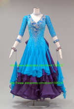 ballroom dance competition dresses high quality custom made size vestido flamenco Waltz Tango standard ballroom dress