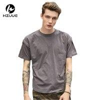 HZIJUE 2017 summer short sleeve men fashion T shirts Casual Retro Oversized men streetwear top tees hip hop male Tees