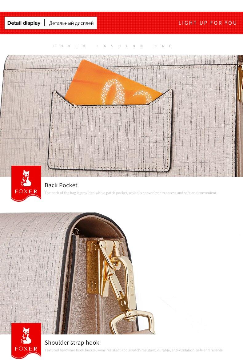 Foxer marca de moda feminina bolsa de