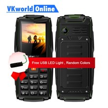 VKworld Yeni Taş V3 Özellik Telefon Su Geçirmez IP68 2.4 inç GSM FM Rus Klavye 3 Sim kart Yuvası 3000 mAh 2G GSM Cep Telefonu