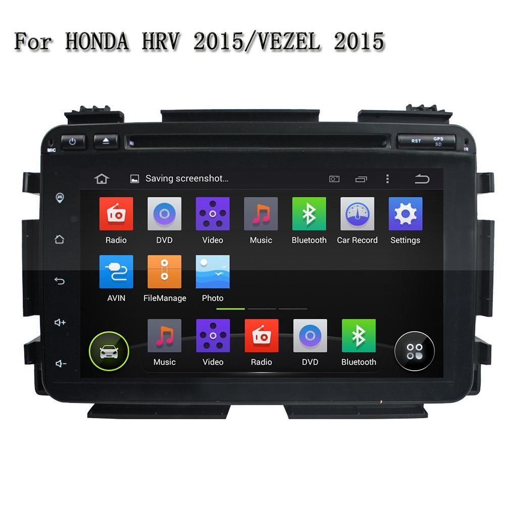 8 1024*600 HD Сенсорный экран Android 5.1.1 GPS Navi Двойной Дин DVD плеер для Honda vez ...