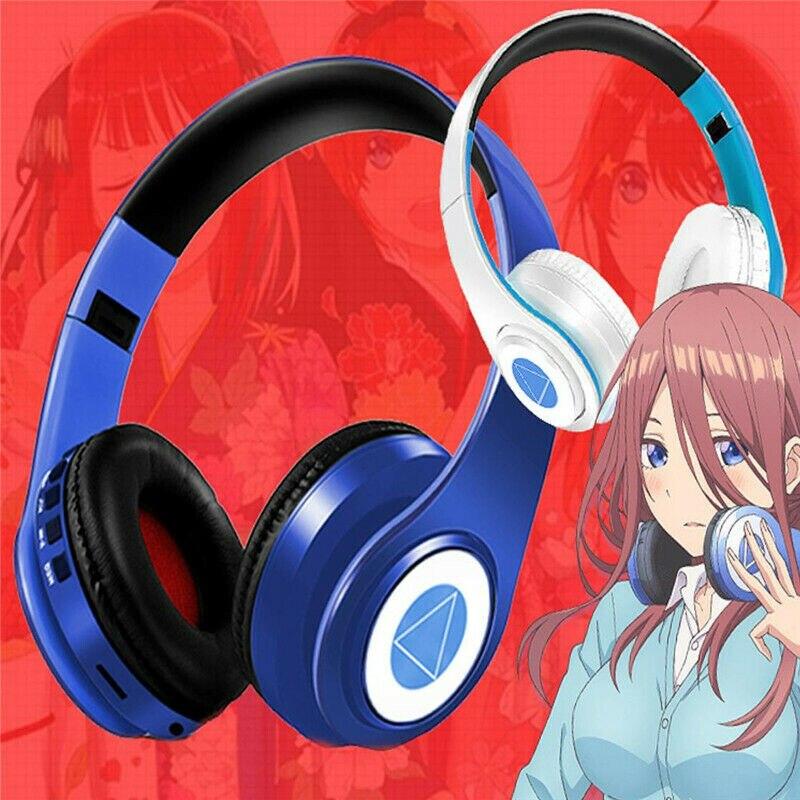 Anime Go Toubun no Hanayome The Quintessential Quintuplets Nakano Miku Cosplay Fold Headset Wireless Bluetooth Earphone