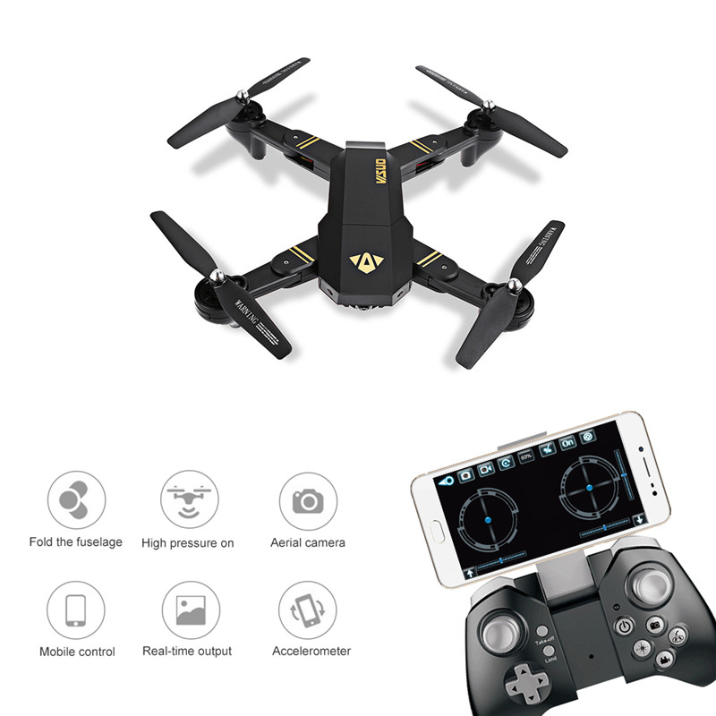 Foldable RC Drone,ToyPark XS809W Smartphone RC Quadcopter with Settable Flight Trajector 2MP Camera Drone drone with camera rc plane qav 250 carbon frame f3 flight controller emax rs2205 2300kv motor fiber mini quadcopter