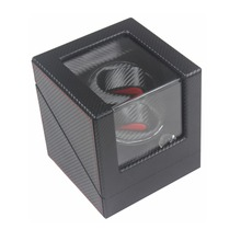 Watch Winder ,LT Wooden Automatic Rotation 2+0 Watch Winder Storage Case Display Box (black colors)