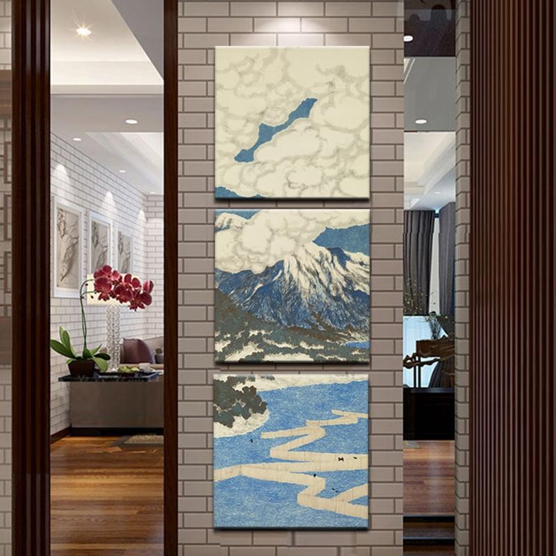 3 Panel Japanischen ukiyo e Seascape Wandkunst Malerei Fuji mit ...