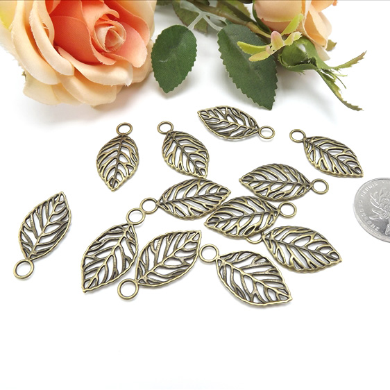 Jewelry Finding & Components Parts Diy Sweater Chain Material Bronze Large Leaves #JZ105