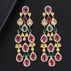 Image 4 - Missvikki boucles doreilles en cristal autrichien pour femmes, marque originale, pendentif magnifique, bijoux danniversaire, acteurs, danseurs, spectacle sur scène