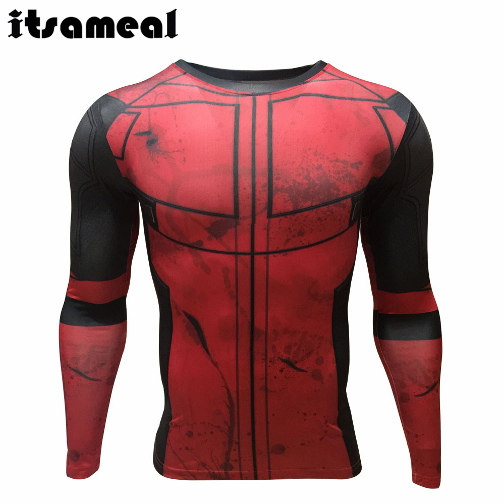 Fun deadpool 3d printed t shirts men cosplay costume for Compressed promotional t shirts