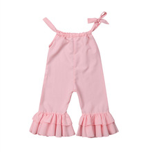 Kids Girls Rompers Girl Sleeveless Romper Bell-Bottomed Pants Kids Jumpsuit Toddler Girl Clothes Ruffle Infant Jumpsuit Outfits(China)