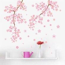 pink Cherry blossoms tree romantic garden diy home decal wall sticker girls bedroom art TV background decorative poster