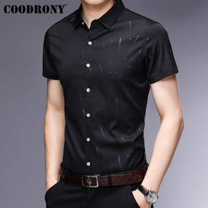 Image 2 - COODRONY Short Sleeve Men Shirt 2019 Summer Cool Shirt Men Business Casual Shirts Male Fashion Star Pattern Chemise Homme S96034