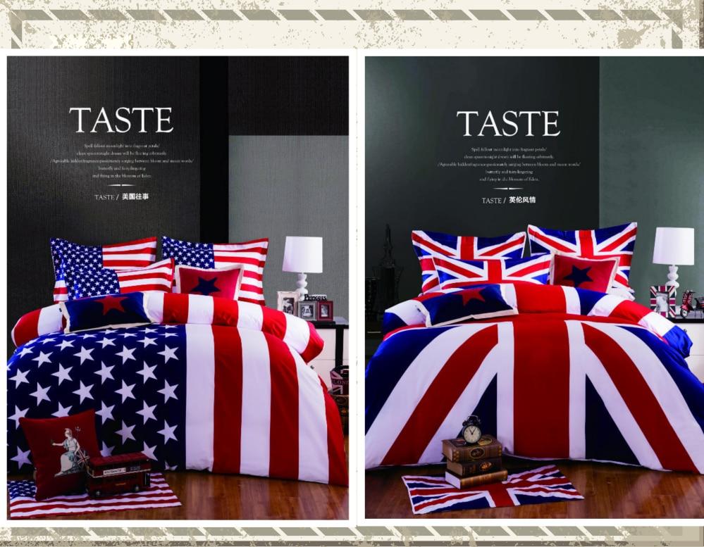 34pcs 100 Cotton American Flag Bedding Set Twin Size USA