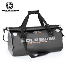 все цены на ROCK BIKER Motorcycle Black Waterproof Tail Bags Back Seat Bags 50L Travel Bag Scooter Sport Luggage Rear Seat Rider Bag Pack онлайн