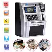 Giantree Simulation UNS ATM Saving Banken ATM Sparschwein ATM Geld Sicher Boxen mit LCD Bildschirm Silber Kinder geschenk geld safe