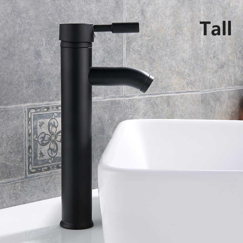 Umywalka kran wody z kranu łazienka kran krany pojedynczy uchwyt zlew wody bateria kuchenna krótki wysoki