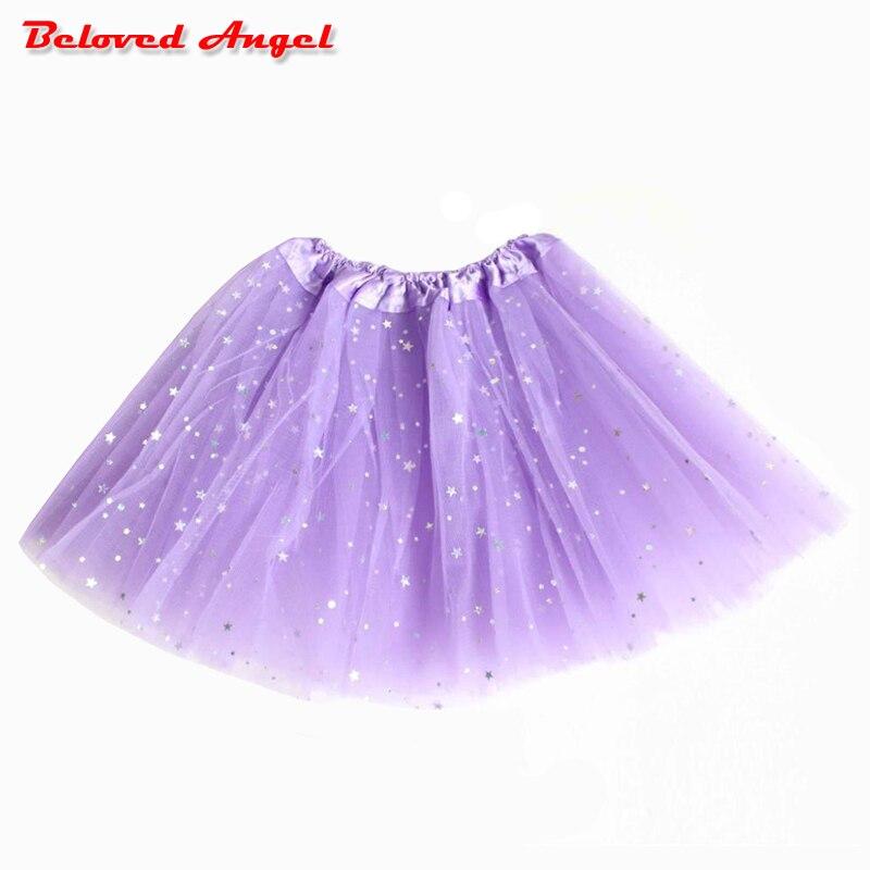 9a60c3fa7 2019 nueva falda tutú para niñas, falda de bailarina, faldas de Ballet  mullidas para niños, ropa de tul de princesa de baile de fiesta para niñas  ...