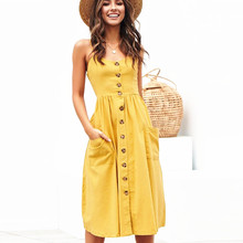 6d23f42a83480 Buy yellow midi dress and get free shipping on AliExpress.com