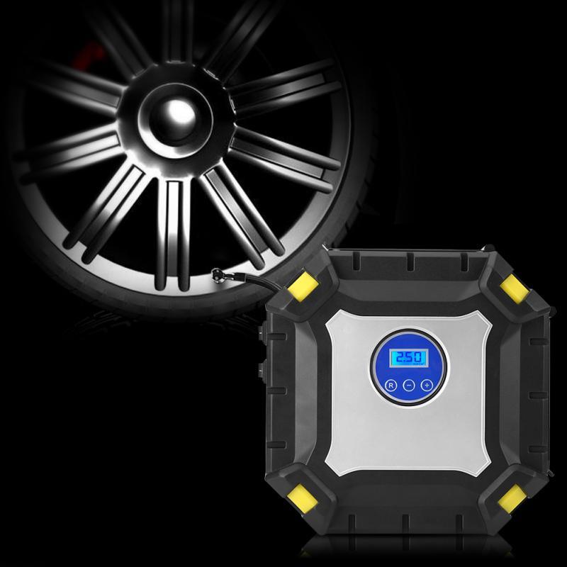 12 V Portable numérique voiture pneu gonfleur pompe électrique compresseur d'air 100 PSI pour voiture vélo balle