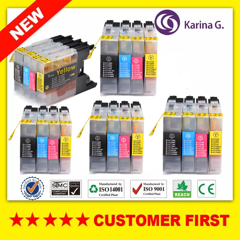20PK Nice Compatible Ink Cartridge For Brother LC1240 LC1220 LC75 LC73 LC12 LC40 ,Used For Brother Printer, Free Shipping