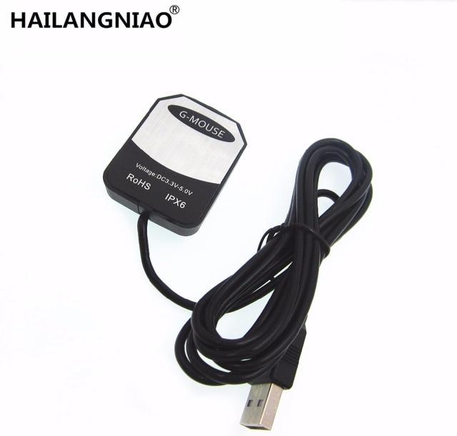 USB GPS Receiver Ublox 7020 gps chip GPS Antenna G Mouse replace BU353S4 VK 162