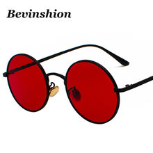 4b1ac4f53797 Metal Round Sunglasses Women Punk Glasses Men Retro Harajuku Style Hip Hop  Cool Korean Vintage Sun Glasses Female Red Pink Clear