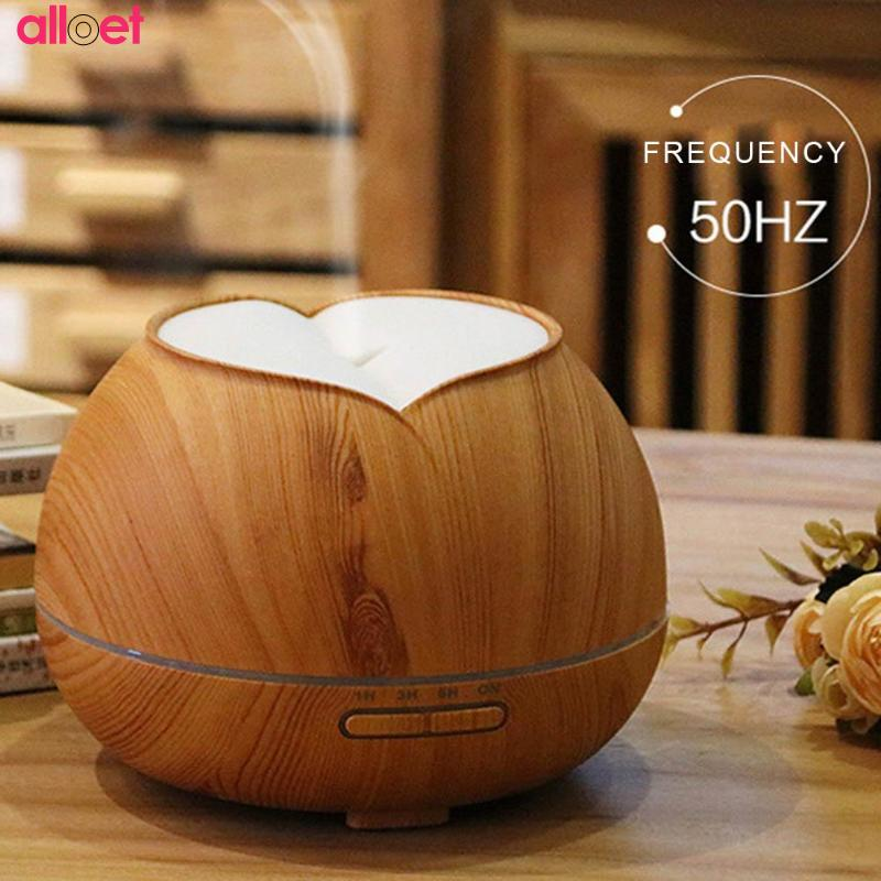 400ML Aroma Essential Oil Diffuser Air Humidifier Ultrasonic Cool Mist Humidifier Aromatherapy with Wood Grain for Home Bedroom humidifier aroma essential oil diffuser ultrasonic air humidifier with wood grain pattern