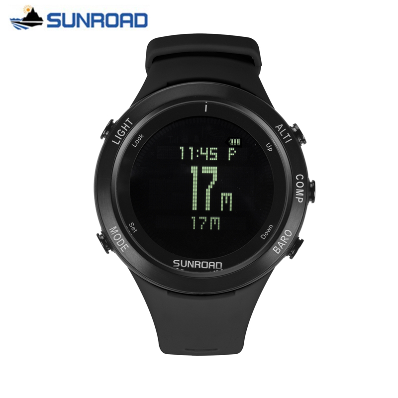 Reloj hombre sunroad 군사 디지털 다이버 스포츠 시계 남성 시계 톱 브랜드 럭셔리 심장 박동 모니터 손목 시계 시계 saat-에서디지털 시계부터 시계 의  그룹 1