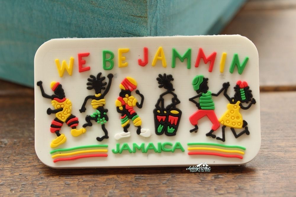 Jamaica Dancing We Be Jammin Tourism Souvenir Rubber Fridge Magnet Tourist Travel GIFT