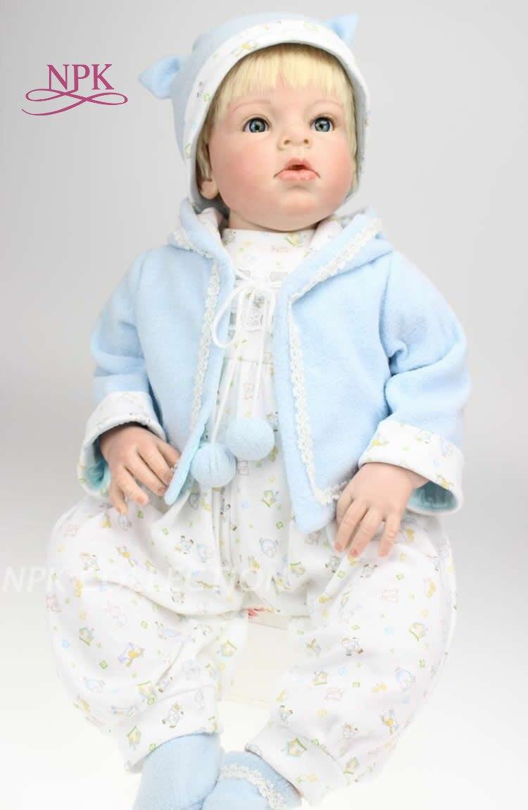NPK Realistic About 28 70cm Handmade Lifelike Newborn Baby Doll Reborn Soft Silicone Vinyl toys Gift for Girl or Boy