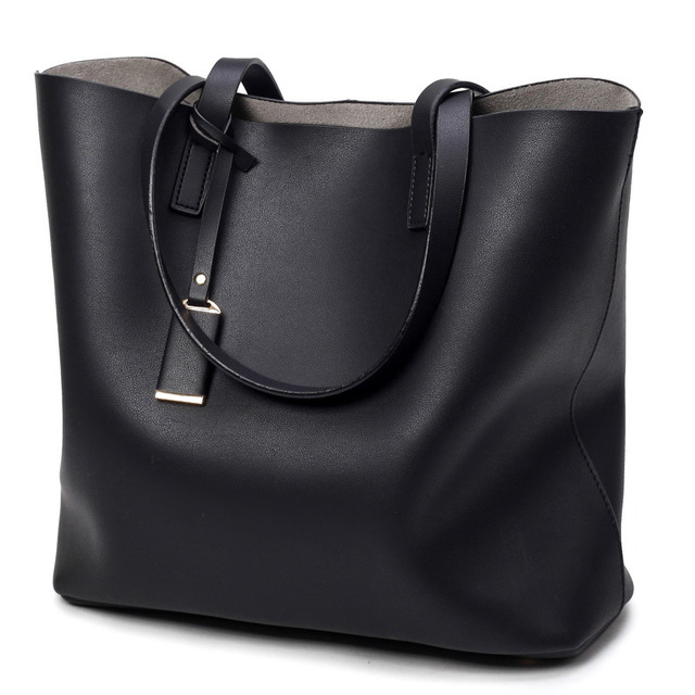 ff72a6667b26 Women Bag Black Bolsa Feminina Bucket Shoulder Obag Solid Womens Leather  Handbags Large Capacity Top-