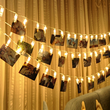 hot deal buy battery powered photo clip string lights picture fairy string decor twinkle lights for hanging photos cards