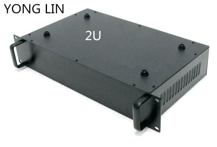 1 stücke HTPC CHASSIS 2U chassis 19 zoll fall daten switch box chassis kommunikation server chassis