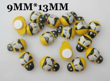 BJ022 12mm*15mm Ladybird shape cartoon flatback buttons 600pcs Mixed 6 colors DIY craft Accessory