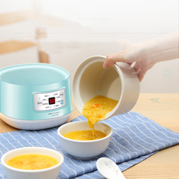 220V Multifunction Slow Cooker Electric Cooking Pot Ceramic Liner  Water Steam Stewing Soup Porridge Baby Food Cooking Machine 4