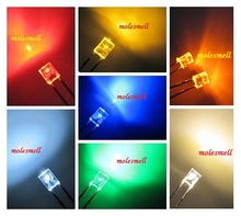 10pcs multicolor 2x3x4mm water clear Red Yellow Blue Green White Orange Warm white lens LED colorful led light