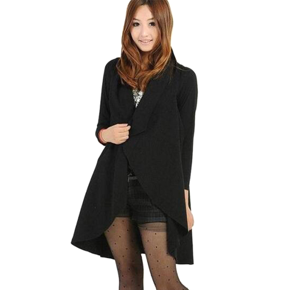Red Black Gray Blue ᗚ Long Long Wool Coats Women 2017 ᗐ