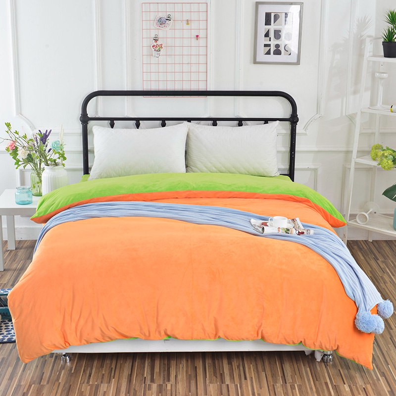 4pcs Crystal Flannel The green Bedding sets Winter Warm Fleece Duvet cover Bed Sheet pillowcase Twin Queen King size bedclothes4pcs Crystal Flannel The green Bedding sets Winter Warm Fleece Duvet cover Bed Sheet pillowcase Twin Queen King size bedclothes