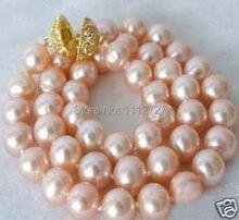 """Descuento! charmming bricolaje 12 mm mar rosado shell collar de perlas 18 """" fabricación de la joyería AAA + + + sobre 33 unids / strands precio venta al por mayor"""