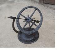 Round Cast Iron Roman Calendar Sundial Ornaments Lawn Garden Yard Desk Home Arts Decor Sundials Vintage Metal Crafts Gift