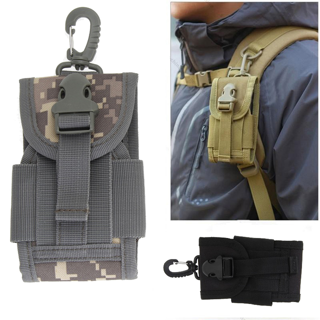 sports shoes 17cbb 33be6 US $3.51 26% OFF|Outdoor Camping Hunting Bags Tactical Molle Cell Phone  Case Bag Nylon Buckle Waist Pouch Pack Outdoor Sports Survival Tools -in ...