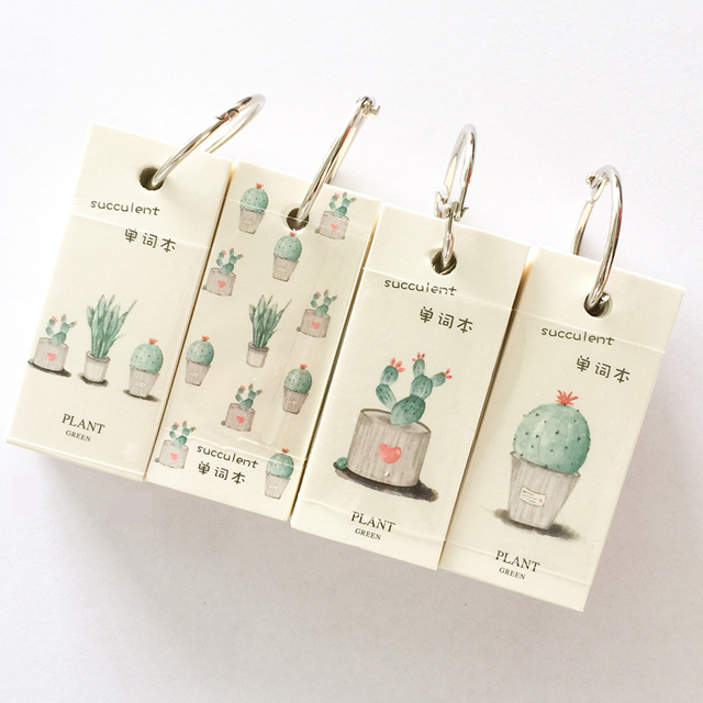 110 Sheets Mini Cactus Notebook