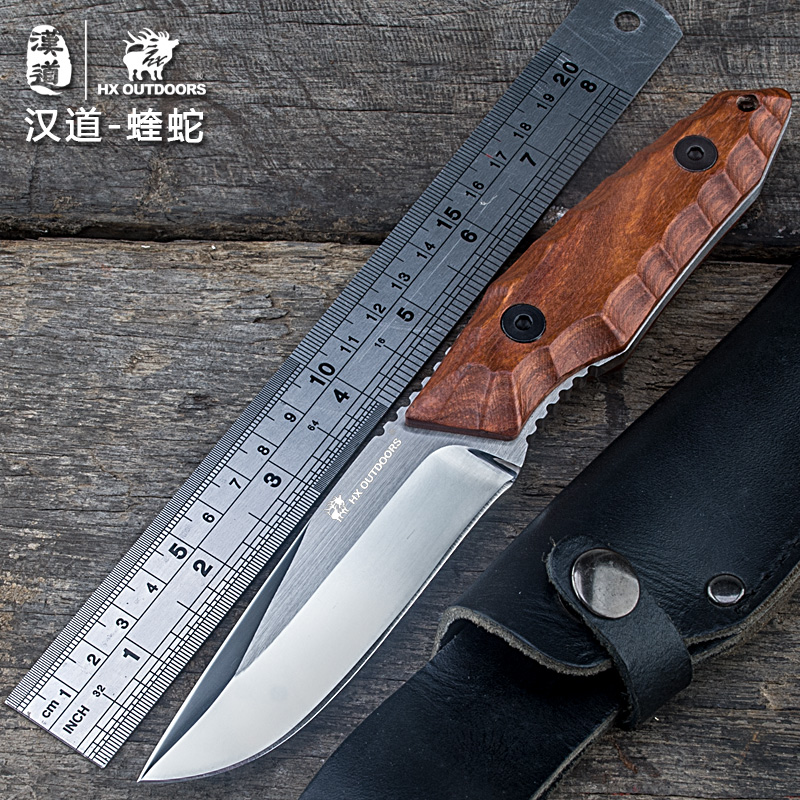 HX outdoor brand knife rosewood handle fixed utility 5Cr15Mov blade straight knife camping hand tools survival hunting knives hx outdoors survival knife d2 blade multi function camping saber tactical fixed knife hunting tools brand fixed knife hand tools