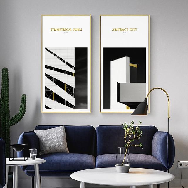 Nordic Semplice in Bianco e Nero Paesaggio Quadri Moderni Pittura Arte  della Tela di Canapa Stampe Poster Da Parete per Soggiorno Complementi  Arredo ...