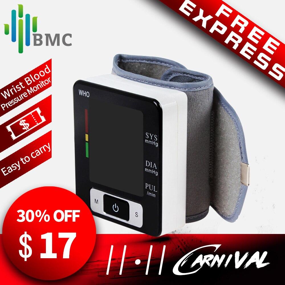 BMC Wrist Digital Blood Pressure Monitor Automatic Sphygmomanometer Smart Medical Machine Measure Pulse Rate Fitness Measurement цена 2017