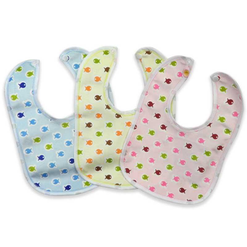 Estilo aleatorio babero de terciopelo de bebé impermeable cuidado de bebé Impresión de Baberos toalla nuevo