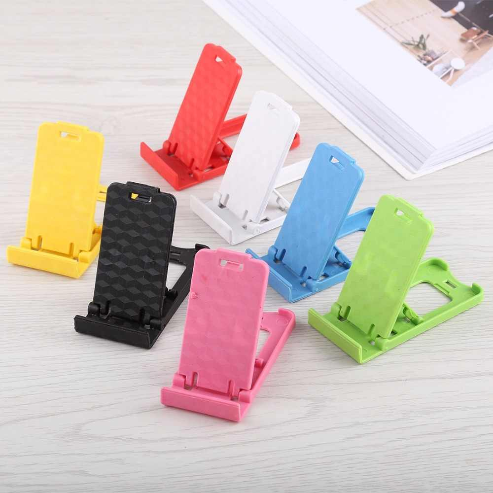 Mini Mobile Phone Holder Desk Portable Adjustable Foldable Stands For iPhone/ Samsung/ All Phones/ Tablets Random Color Delivery