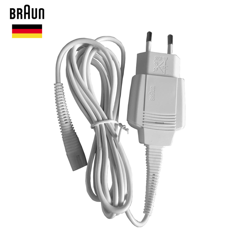 Braun Shavers Charger Cord 5497 EU Wall Plug Razor AC Power Charging Cable 100-240v Output 12v Waterproof Brand New Accessories