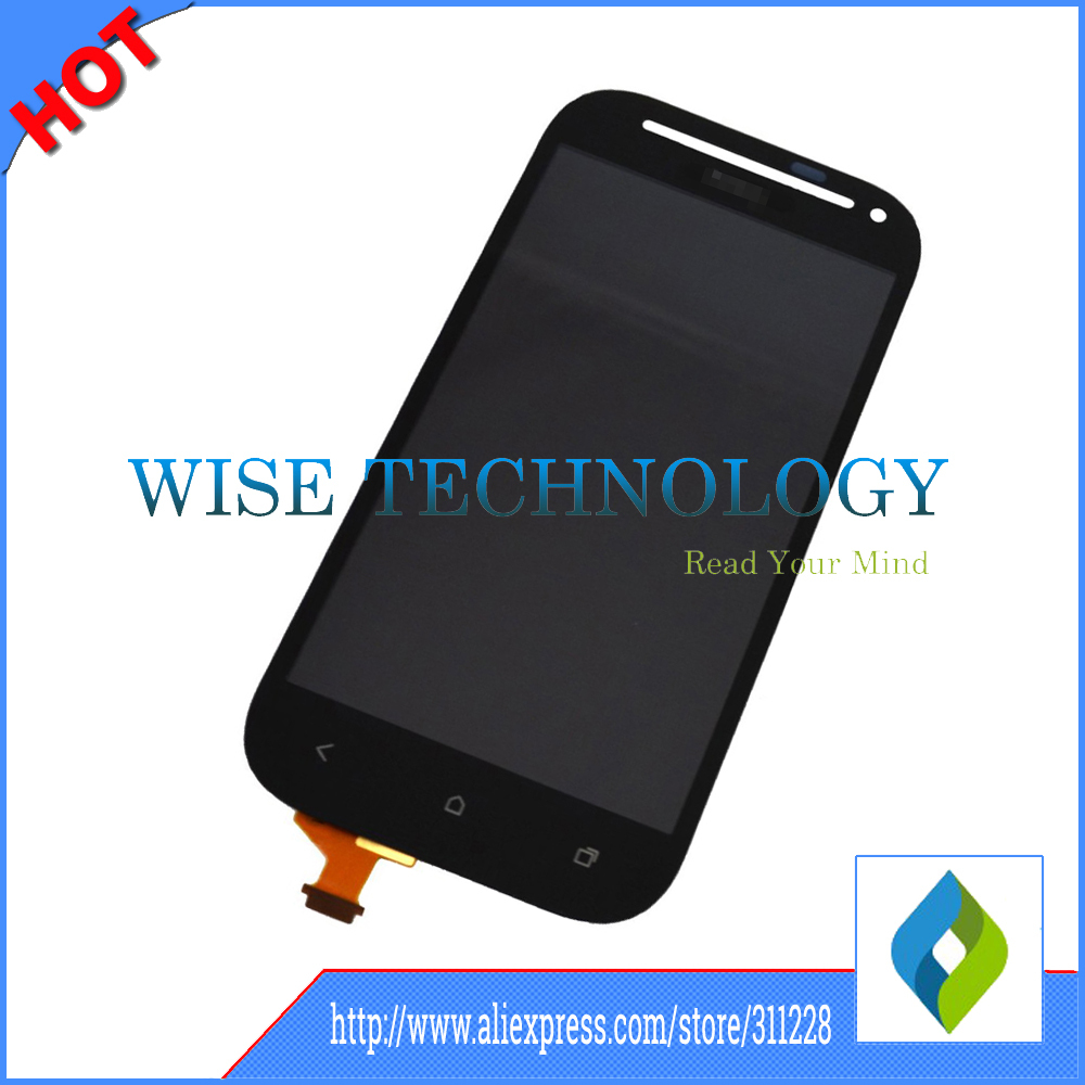 все цены на  Touch Screen Digitizer + LCD Display Assembly For HTC One SV ST LTE T528T black color, mobile phone LCD  онлайн